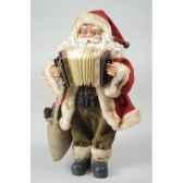 pere noepolystyrene debout et accordeon avec sachet cadeau en jute kaemingk 560022