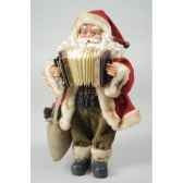 pere noepolystyrene debout et accordeon avec sachet cadeau en jute kaemingk 560023