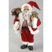 pere noeen tissu debout avec cadeaux et ourson kaemingk 561037
