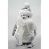 pingouin polystyrene avec echarpe avec tete kaemingk 611645
