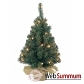 mini sapin illumine pliable60 cm everlands nf 671101