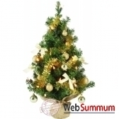 mini sapin diy illumine pliable vert or 60 cm everlands nf 671820