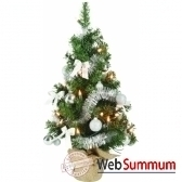 mini sapin diy illumine pliable vert argent 60 cm everlands nf 671821