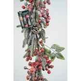 couronne deco baies avec neige kaemingk 673142