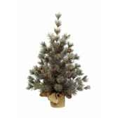 mini sapin frosted pomme de pin 90 cm everlands nf 681188