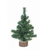 sapin de table avec tronc en bois 20 cm everlands nf 683322