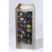 sapin mini avec decoration 20 boules et 10 pompons everlands nf 683374