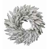 couronne neige pommes de pin 30 cm kaemingk 685025