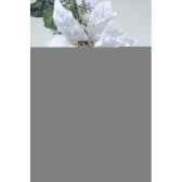 guirlande deco poinsettia neige avec baies et paillettes 180 cm kaemingk 685172