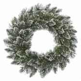couronne finley givre 88 branches 50 cm kaemingk 688477