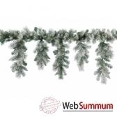guirlande enneigee icicle 340 branches 270 cm kaemingk 688881