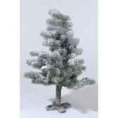 mini sapin neige paillettes 35 cm everlands nf 689100