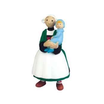 Figurine Bécassine et le bébé -61003