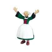 figurine becassine bras en air 61005