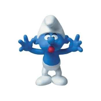 Figurine Schtroumpf grimaçant -00154