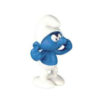 Figurine Schtroumpf se bouchant les oreilles -00161