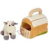 peluche vache avec petite maison ho1136vache