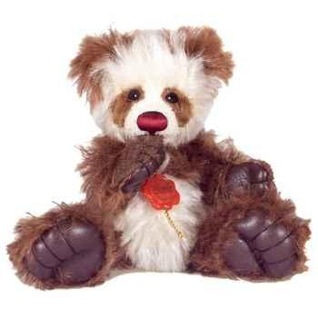Peluche Hermann Teddy Original® Tom pouce Panda marron,édition limitée -15062 6