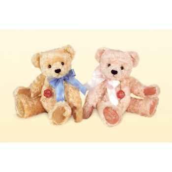 Peluche Hermann Teddy Original® Ours rosé avec broderie-12020 9
