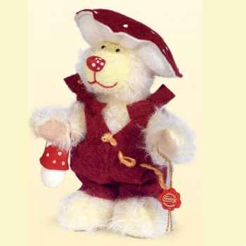 Peluche Hermann Teddy Original® Ours Fliegenpilz,édition limitée -10747 7