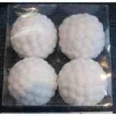 4 fig a susp boule de neige 8cm attaches peha rn 40180