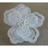 fleur sur clip 25cm blanc peha rn 50150