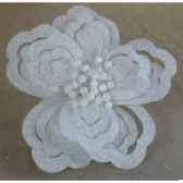 fleur sur clip 20cm blanc peha rn 50155