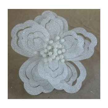 Fleur sur clip 20cm blanc Peha -RN-50155