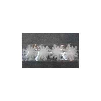 Fig à susp flocons 10cm blance set/24 Peha -RN-55135