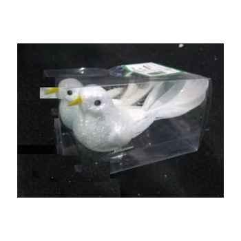 2 colombes 11cm sur clip Peha -RN-56135