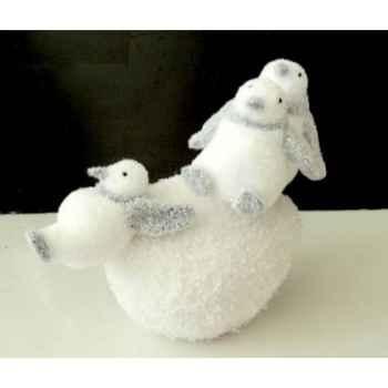 Pingouin 25cm sur boule neige Peha -RN-57140