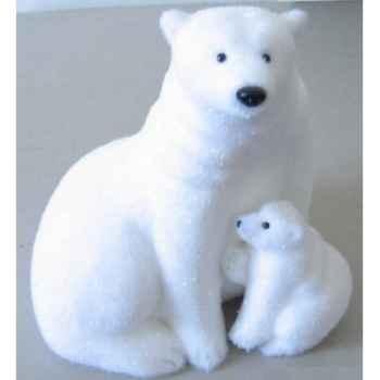 Ours polaire et son bébé 30cm Peha -RN-57165