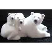 our polaire et ses bebes 50cm peha rn 57175