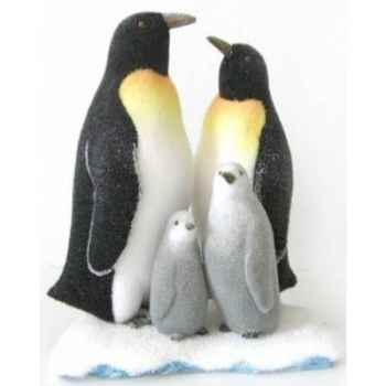 Famille pingouin sur iceberg Peha -RN-57190