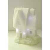 maison neige 15x19cm 6led s p peha rn 58130