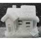 maison neige 20x17cm 6led s p peha rn 58140