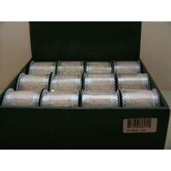 Ruban blanc a argent et paillettes Peha -PY-70015