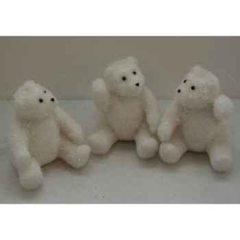 Fig à susp 7cm ours blanc 3 ass Peha -SH-15105