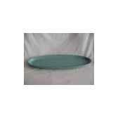 assiette en bois 52cm verte clair peha tr 21295