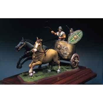 Figurine - Ensemble Char de combat romain en 125 ap. J.-C. - SG-S03