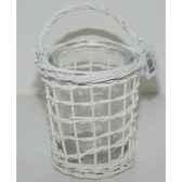 lanterne 16cm gris brindilles a verre peha tr 25247