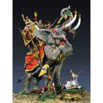 Figurine - Ensemble Eléphant de l'armée carthaginoise en 2022 av. J.-C. - SG-S04