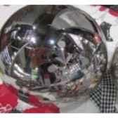 boule 12cm a ruban gris blanc peha tr 28635
