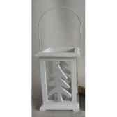 porte bougie 15x15x22cm blanc peha tr 30070