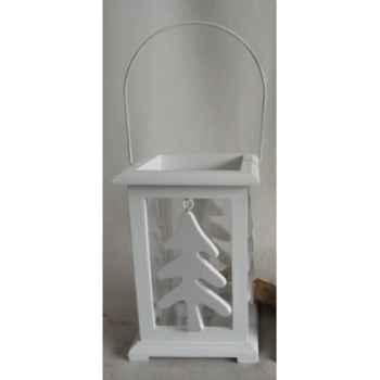 Porte bougie 15x15x22cm blanc Peha -TR-30070