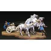 figurine ensemble quadrige chars de course romains sg s09