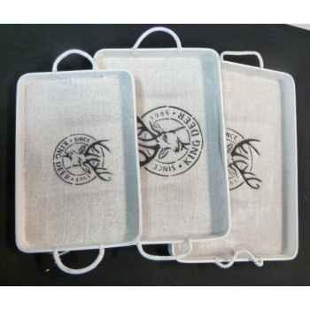 Service plate bois blanc set/3 Peha -TR-31210