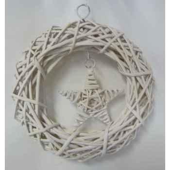 Couronnes étoile 21cm blanc Peha -TR-31540