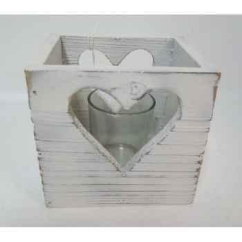 Bougeoir coeur incl verre 12x10x11cm Peha -TR-31660