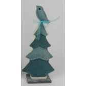 arbre avec oiseau 18x23cm bleu peha tr 34378